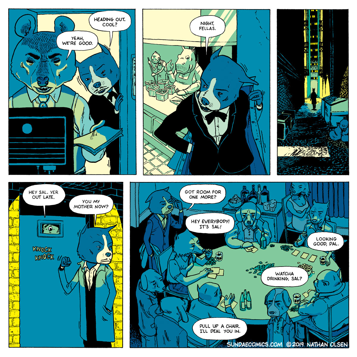 A webcomic about a guy who gets off work and goes out gambling.